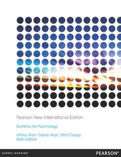 Statistics for Psychology: Pearson New International Edition (6th Edition)