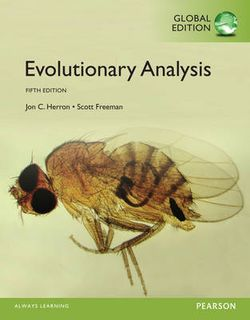Evolutionary Analysis, Global Edition (5th Edition)