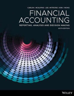 Financial Accounting: Reporting, Analysis And Decision Making (6th Edition)