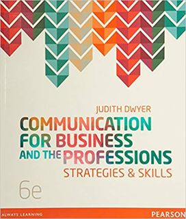 Communication for Business and the Professions: Strategies and Skills (6th Edition)