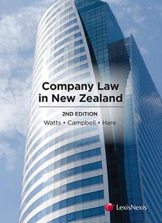 Company Law in New Zealand (2nd Edition)