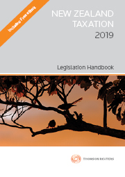 New Zealand Taxation Legislation Handbook 2019