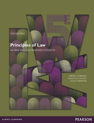 Principles of Law for New Zealand Business Students (5th Edition)