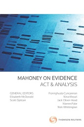 Mahoney on Evidence: Act & Analysis