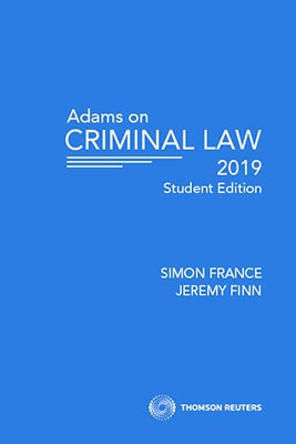 Adams on Criminal Law Student Edition 2019