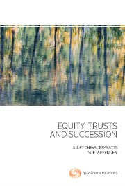 Equity, Trusts and Succession