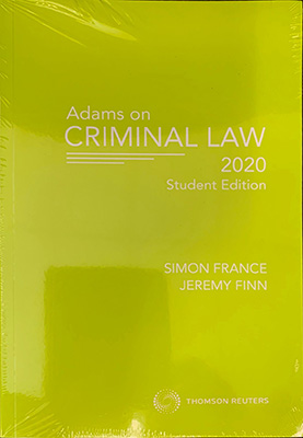 Adams on Criminal Law Student Edition 2020