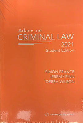 Adams on Criminal Law Student Edition 2021